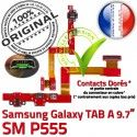 Samsung Galaxy TAB A SM-P555 HP Parleur OFFICIELLE de HOME ORIGINAL Bouton Flex Réparation SM Nappe Chargeur Haut Connecteur Charge P555