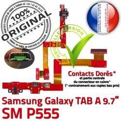 Casque Nappe SM Réparation HOME Connecteur MicroUSB Bouton A Charge Galaxy Samsung SM-P555 TAB Chargeur Ecouteurs P555 Jack ORIGINAL