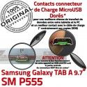 SM-P555 TAB A Jack Ecouteurs Charge Samsung Chargeur Casque Bouton ORIGINAL HOME MicroUSB Galaxy Nappe SM Réparation P555 Connecteur
