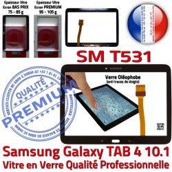 en Galaxy LCD Prémonté Samsung TAB4 PREMIUM N Supérieure Tactile Assemblée Qualité Verre Vitre Tab4 10.1 Ecran SM-T531 Adhésif Noire