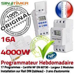 Programmation Contacteur électrique Commande Tableau Rail Système Digital Journalière 4kW Electronique Automatique Vidéosurveillance Vidéo 4000W DIN 16A