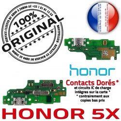 Prise RESEAU ORIGINAL OFFICIELLE Honor Téléphone 5X USB Antenne Chargeur DOCK Connecteur Huawei Qualité Microphone Nappe Charge