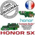 Honor 5X PORT Prise Qualité Antenne Chargeur Téléphone USB RESEAU JACK OFFICIELLE Micro Charge Câble ORIGINAL Nappe Microphone