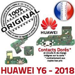 PORT OFFICIELLE Y6 Charge Chargeur Antenne Prise USB Qualité ORIGINAL JACK Nappe 2018 de Huawei Câble Micro Téléphone Microphone