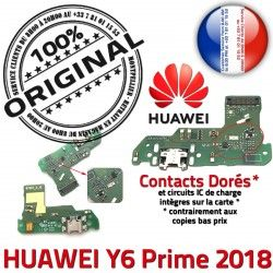 Micro Huawei 2018 Chargeur Branchement PORT Prime ORIGINAL Y6 Nappe OFFICIELLE USB Antenne Qualité Câble Prise Charge Microphone