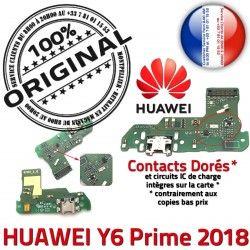 Prise Microphone Câble PORT Antenne 2018 Micro JACK Huawei Téléphone USB Nappe Y6 ORIGINAL Alimentation Charge Chargeur Prime Alim