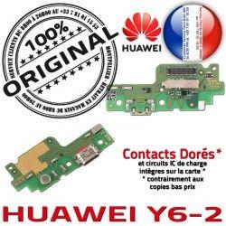 Téléphone Haut-Parleur Chargeur DOCK Microphone PORT Câble Y6-2 JACK USB ORIGINAL Charge Huawei Contact Qualité Nappe Contacts Antenne