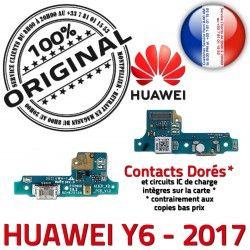 Qualité Nappe ORIGINAL Prise Huawei Antenne Connecteur Chargeur PORT 2017 Téléphone OFFICIELLE Honor USB Y6 Charge Microphone