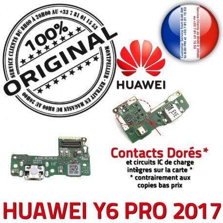 Huawei Y6 PRO 2017 JACK AUDIO Casque Antenne ORIGINAL Charge Micro Chargeur Microphone Nappe Qualité Câble de USB Audio Téléphone PORT