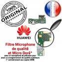 Huawei Y6 PRO 2017 JACK AUDIO Microphone Nappe Charge USB Casque Antenne Audio de Micro PORT Qualité Téléphone Câble ORIGINAL Chargeur