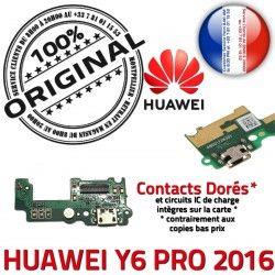 Nappe Prise ORIGINAL Alim Câble JACK Qualité Micro Antenne Huawei Charge Microphone USB PRO 2016 Alimentation Chargeur Téléphone Y6
