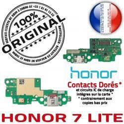 JACK Branchement USB LITE Microphone OFFICIELLE Téléphone Antenne de Charge C Micro 7 Chargeur ORIGINAL Câble Nappe Honor PORT