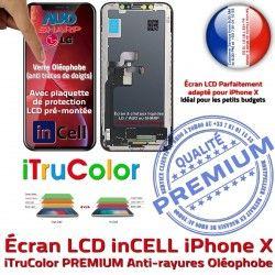LCD Cristaux PREMIUM X Oléophobe 3D Vitre iPhone Remplacement HDR Touch Liquides Verre Multi-Touch inCELL Apple Tactile