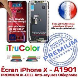Liquides LCD inCELL Tactile X Cristaux Apple in-CELL Vitre iPhone Touch PREMIUM Écran iTrueColor Verre Multi-Touch Remplacement A1901