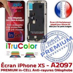 A2097 Cristaux Vitre Affichage PREMIUM Écran 5,8 LCD SmartPhone pouces Tone True Retina Apple XS inCELL Liquides iPhone Super