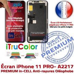 inCELL Écran Touch Verre HDR LCD SmartPhone Multi-Touch 3D Oléophobe Apple PREMIUM Cristaux Remplacement iPhone A2217 Ecran Liquides