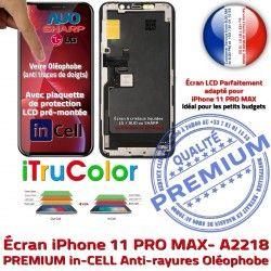 Tactile PREMIUM Écran Affichage LCD Oléophobe 6.5 Changer Vitre True In-CELL Tone SmartPhone pouces Super Verre Apple A2218 iPhone Retina