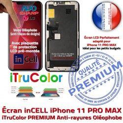 Verre inCELL iPhone MAX Écran Tactile PREMIUM Cristaux Touch 3D SmartPhone LCD PRO 11 Vitre iTrueColor Multi-Touch Remplacement Liquides Apple