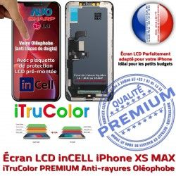 PREMIUM MAX Remplacement Apple Verre inCELL LCD 3D Liquides Cristaux iPhone Touch XS Écran SmartPhone Multi-Touch Oléophobe HDR
