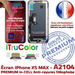 SmartPhone Affichage Apple MAX Retina pouces 6,5 Super PREMIUM Tactile XS Liquides inCELL iPhone Vitre Cristaux True A2104 Tone