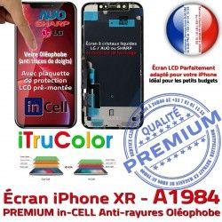 SmartPhone Super 6,1 XR Apple A1984 Affichage PREMIUM Tone Cristaux Écran inCELL iPhone Retina True in Liquides Vitre Complet
