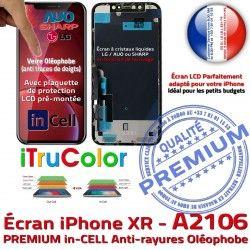 6,1 Retina iPhone Écran Cristaux HD Super Liquides inCELL A2106 LCD inch iTrueColor 3D Touch Réparation Apple SmartPhone PREMIUM