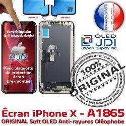 iPhone Complet ORIGINAL soft Écran Vitre in Châssis KIT A1865 Remplacement Qualité Super SmartPhone Touch 5,8 sur X Retina Assemblé OLED