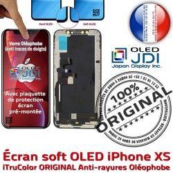 OLED sur Vitre soft HDR Multi-Touch XS 3D Qualité Tactile Oléophobe Touch iPhone Châssis Apple Verre Remplacement Écran ORIGINAL