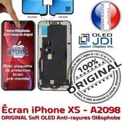 KIT soft ORIGINAL Châssis 3D Apple iPhone Remplacement HDR Assemblé sur Touch OLED Écran SmartPhone A2098 Verre XS Multi-Touch