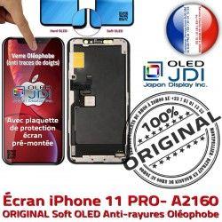 Vitre iPhone Complet A2160 Multi-Touch Écran sur ORIGINAL PRO Remplacement soft 11 Verre OLED Tactile Châss Apple Touch Assemblé