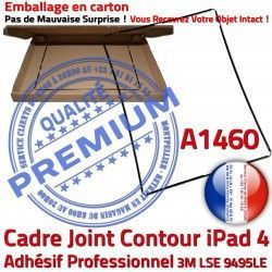 Ecran Châssis Cadre Joint Autocollant Adhésif A1460 Plastique 4 N Tactile Contour Apple Noir Tablette Vitre Precollé Réparation iPad