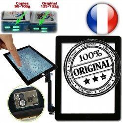 Frontale Home Qualité ORIGINAL Apple Caméra iPad4 Vitre Fixation 4 Touch Monté iPad Oléophobe A1458 A1460 Verre A1459 Multi Noir ON Tactile Ultraviolet Adhésif