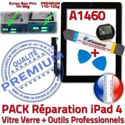 Outils KIT Vitre Verre Bouton Adhésif Noire Réparation Qualité iPad4 Démontage 4 HOME N Precollé iPad PREMIUM Oléophobe Tactile A1460 PACK