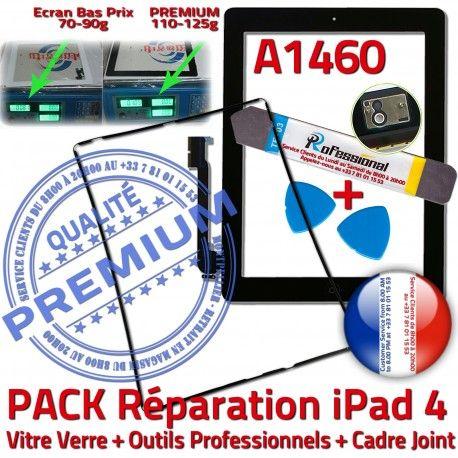 PACK iPad 4 A1460 iLAME Joint N Adhésif Precollé Réparation Apple Tactile iPad4 Tablette Outils KIT Verre Vitre Chassis Bouton Cadre Noire HOME