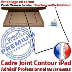 Tactile Cadre Autocollant Joint Vitre N iPad Noir Ecran Plastique Apple Contour Precollé ABS Tablette Adhésif Châssis Réparation