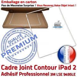 Tactile Châssis Precollé Blanc B Ecran Autocollant Joint iPad2 iPad Tablette Adhésif Contour Réparation Plastique Vitre Cadre ABS Apple 2