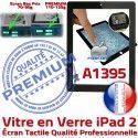 iPad2 Apple A1395 Noir Bouton 2 Precollé Verre HOME PREMIUM Caméra Adhésif Vitre Tactile Ecran Remplacement Fixation Oléophobe iPad Qualité