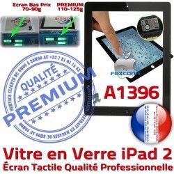iPad2 2 Fixation Tactile Precollé Apple Verre Qualité Bouton Noir iPad PREMIUM A1396 Ecran Oléophobe Caméra Adhésif Vitre Remplacement HOME