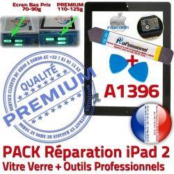 A1396 PREMIUM Tactile Adhésif KIT Bouton Noire Precollé iPad2 Outils Verre Démontage Oléophobe iPad Qualité Réparation Vitre N HOME PACK 2