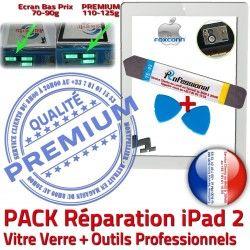 Oléophobe Qualité iPad2 Réparation Precollé Verre PREMIUM Apple KIT 2 HOME Outils Blanche Bouton A1396 Tactile Vitre Adhésif iPad A1395 B Démontage PACK A1397