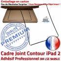 PACK iPad 2 A1396 iLAME Joint N Chassis HOME Precollé Bouton iPad2 Apple Outils Adhésif KIT Noire Vitre Tactile Verre Cadre Tablette Réparation