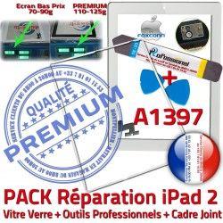 HOME Tablette 2 iPad2 Precollé Bouton Vitre PREMIUM iLAME Tactile Verre Blanche A1397 Réparation Apple iPad Adhésif Outils Joint PACK B Cadre