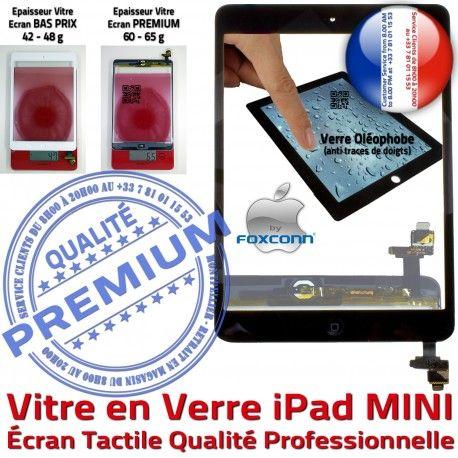 iPad Mini1 A1432 A1454 A1455 N Oléophobe Fixation Bouton MINI Réparation Caméra Tablette Filtre Monté Adhésif Verre Vitre Tactile Nappe Ecran 1 Home Noir