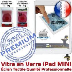 Monté 1 Nappe Bouton A1432 iPad A1455 B Oléophobe Home Mini1 Ecran Tactile Filtre Blanc A1454 Vitre Tablette Réparation Fixation Verre Caméra Adhésif MINI
