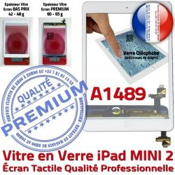 Blanc Tactile Fixation Monté A1489 Tablette Caméra iPad Verre Vitre Oléophobe Nappe Home Mini2 Réparation Adhésif Bouton Filtre Ecran