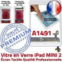 Mini2 Blanc Verre Fixation A1491 Oléophobe Adhésif Réparation Filtre iPad Nappe Tablette Vitre Ecran Monté Home Caméra Tactile Bouton