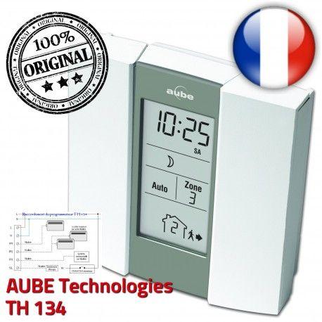 AUBE TH134 Télécommande Auto Pilote Fil zones Chauffage 3 Téléphonique préprogrammé Commande Horaire Programmateur électronique