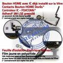 iPad Mini3 A1601 Blanc PREMIUM Tablette Verre Ecran Nappe Réparation Filtre Oléophobe Vitre Bouton Tactile Fixation Adhésif Caméra