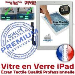 Tactile Qualité Réparation Vitre Bouton iPad4 Caméra iPad Verre Blanche Oléophobe Apple Complet HOME iPad3 Fixation PREMIUM Ecran Precollé Adhésif