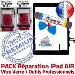 KIT en Démontage Tablette Vitre Verre Outil Bouton AIR Tactile Noire Adhésif N HOME PACK Precollé Nappe A1474 iPad PREMIUM Qualité Réparation A1475 A1476
